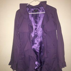 Bebe ruffle light weight jacket